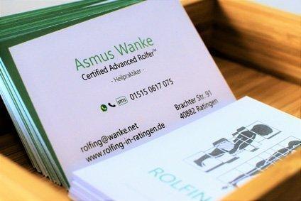 Faszientherapie - Rolfing -Asmus Wanke